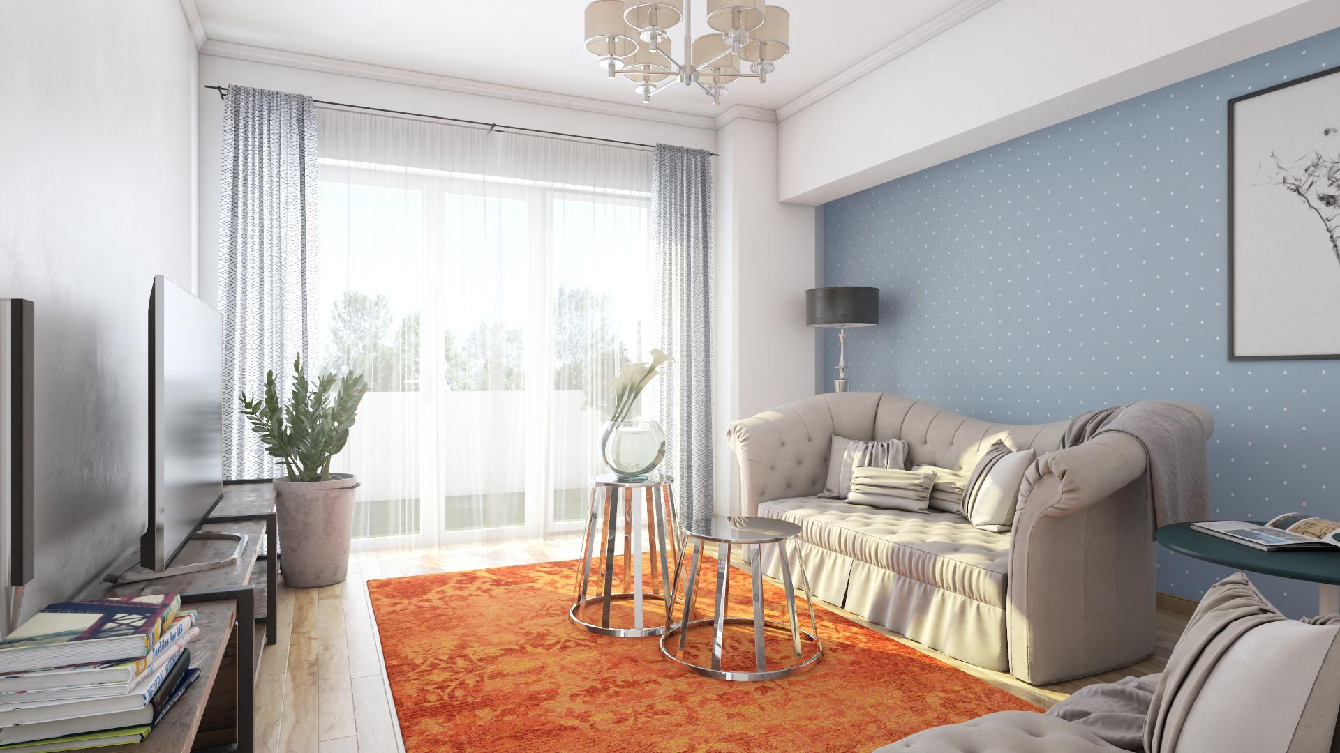 Apartament 3 camere C1-C - living