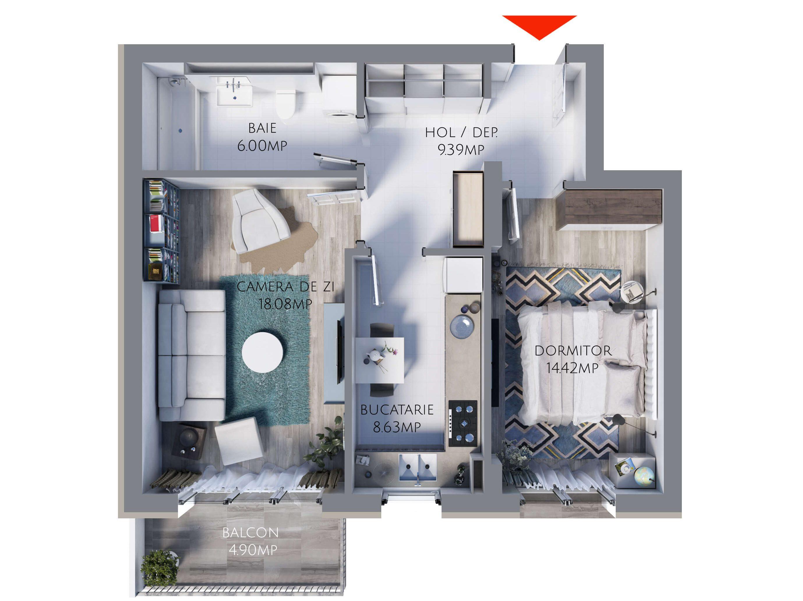 Apartament 2 camere MR56