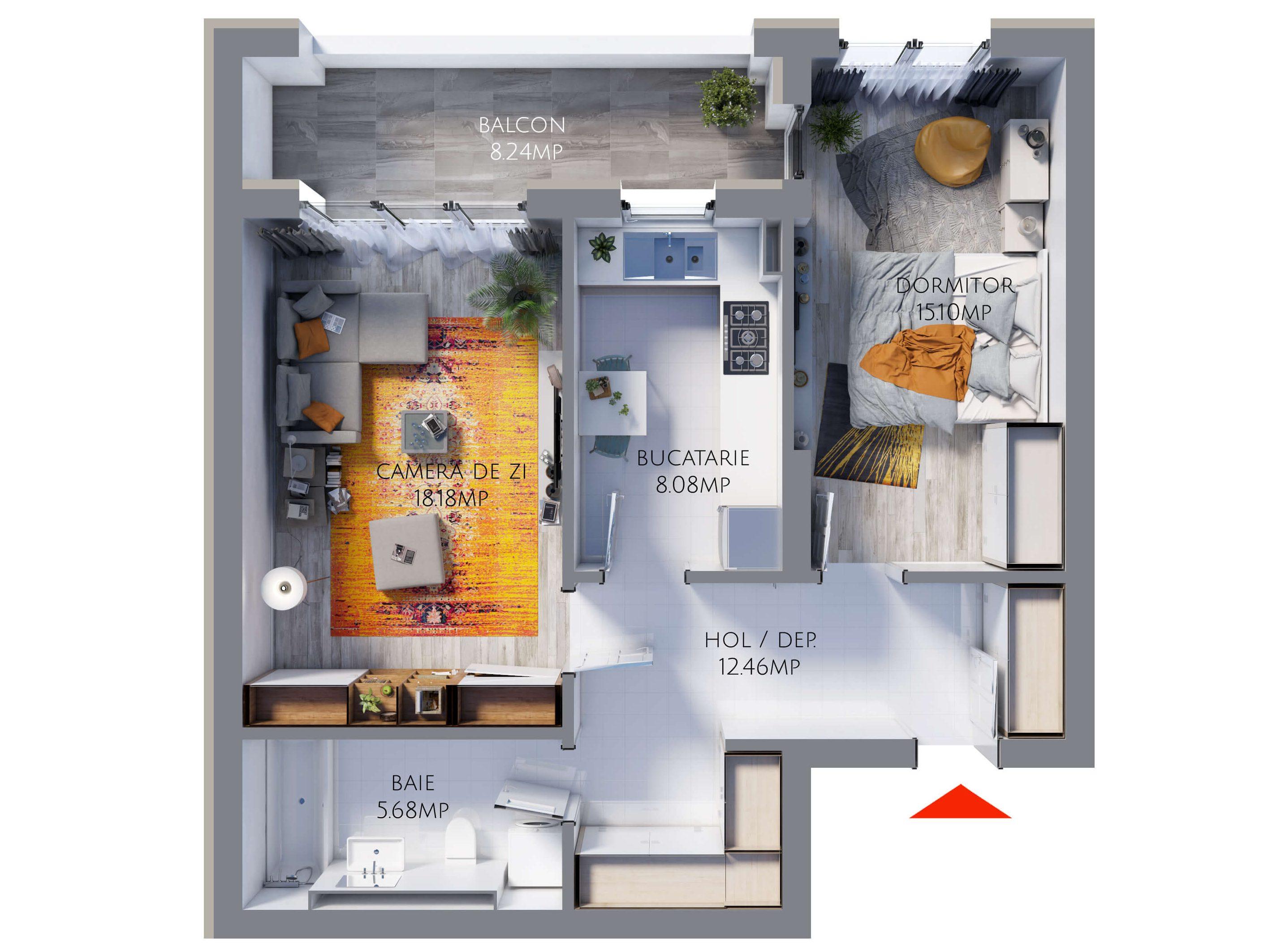 Apartament 2 camere MR59