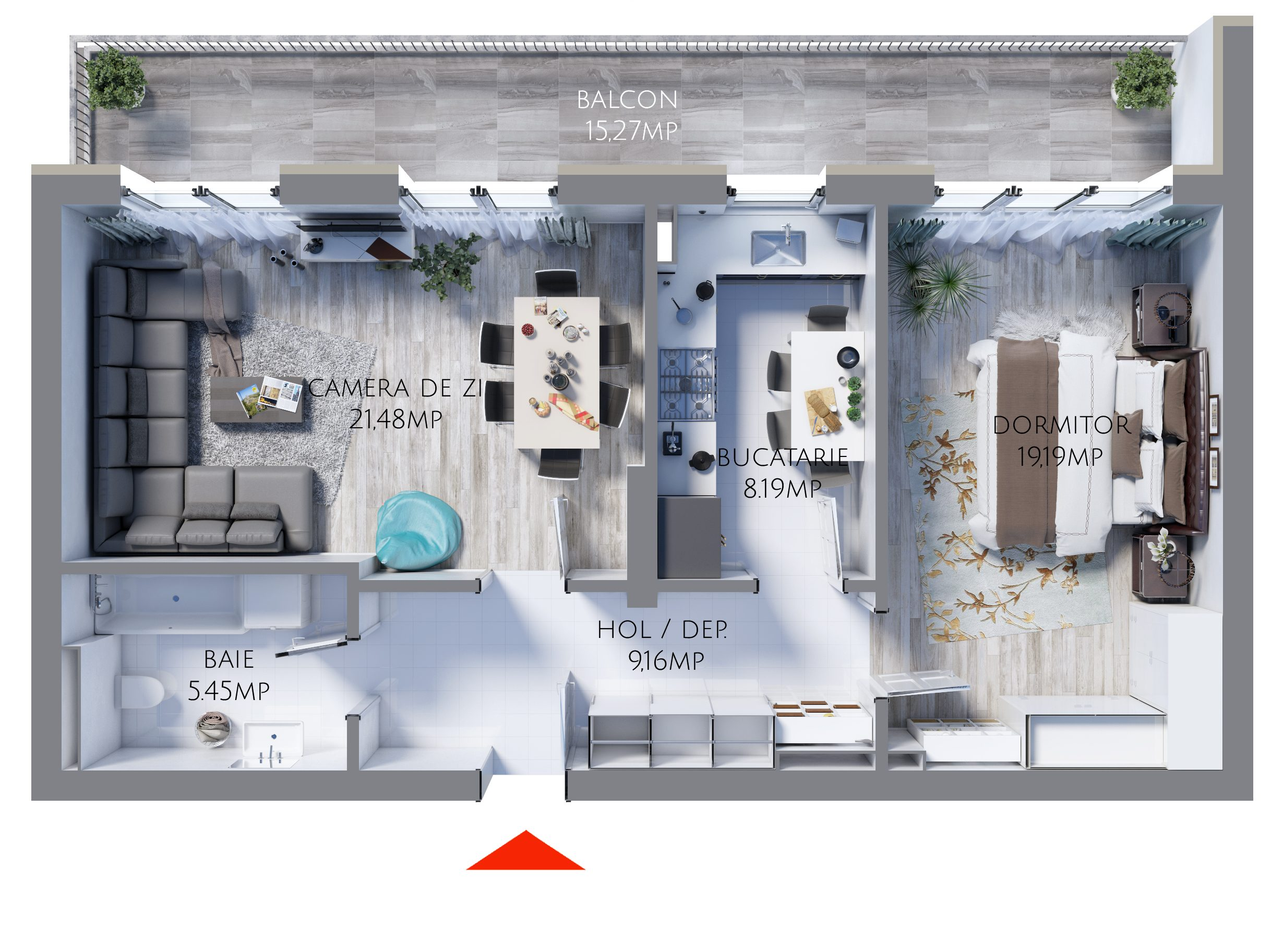 apartament 2 camere MR63