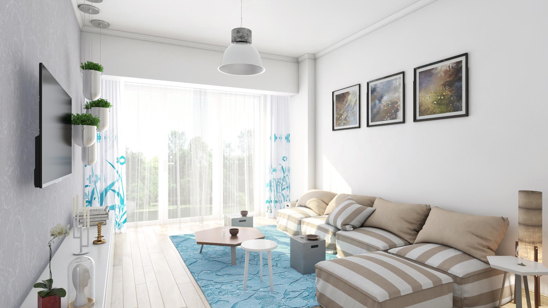 Apartament 2 camere tip C1-A - living