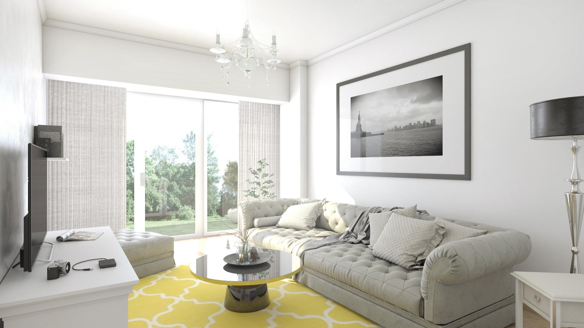 Apartament 2 camere tip C1-B - living