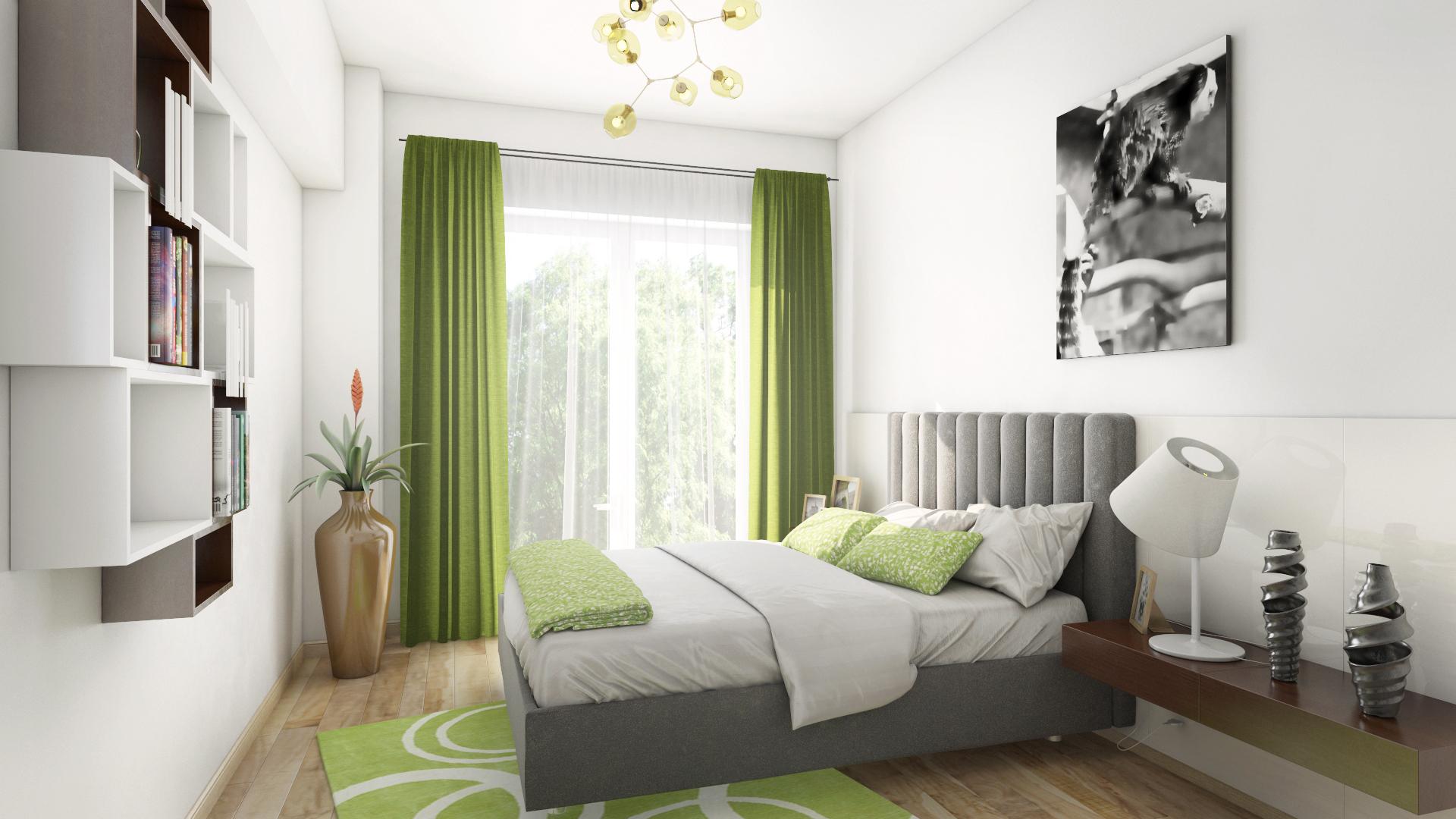 Apartament 2 camere tip C1-E - dormitor