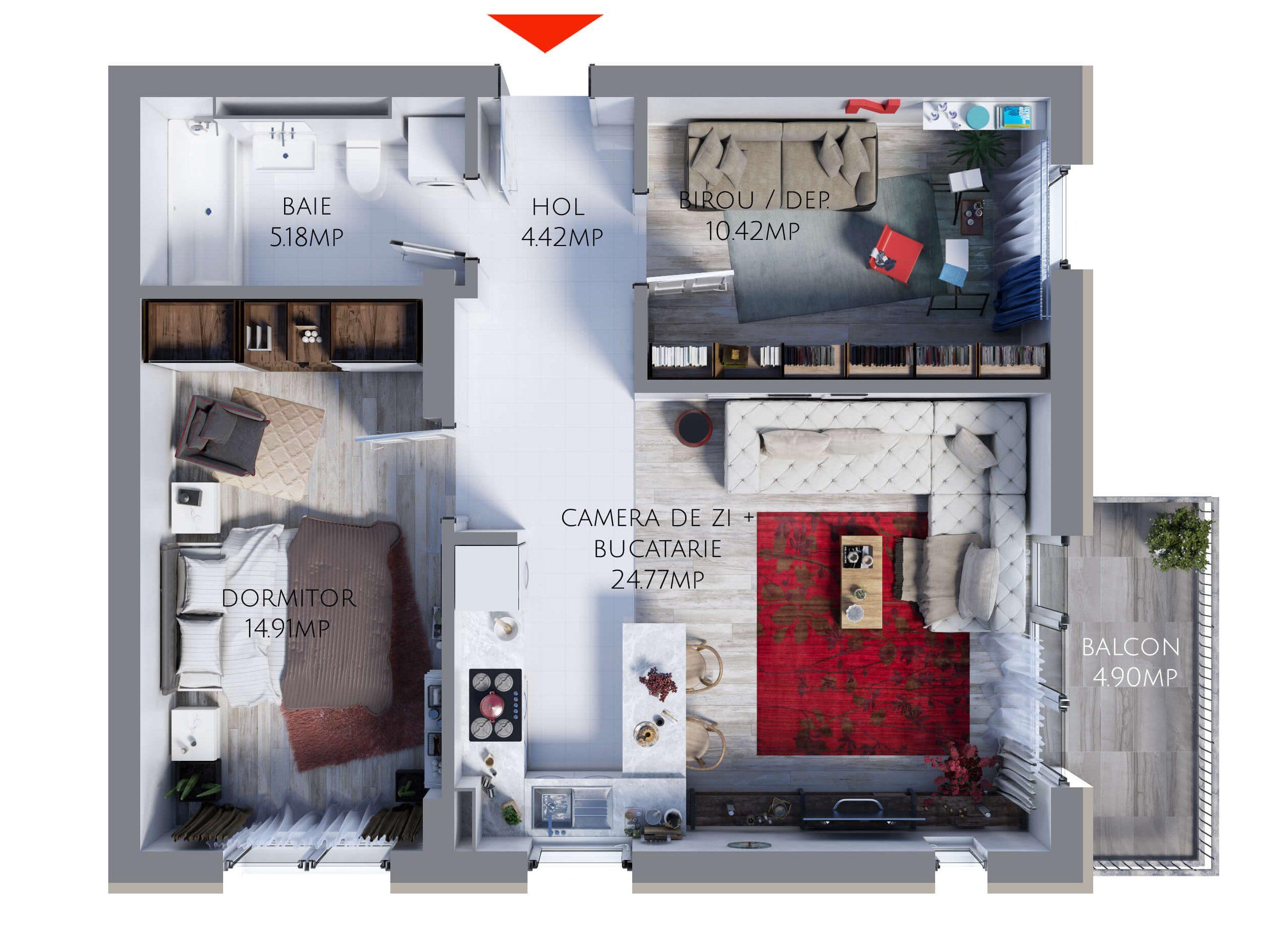 Apartament 2,5 camere MR59