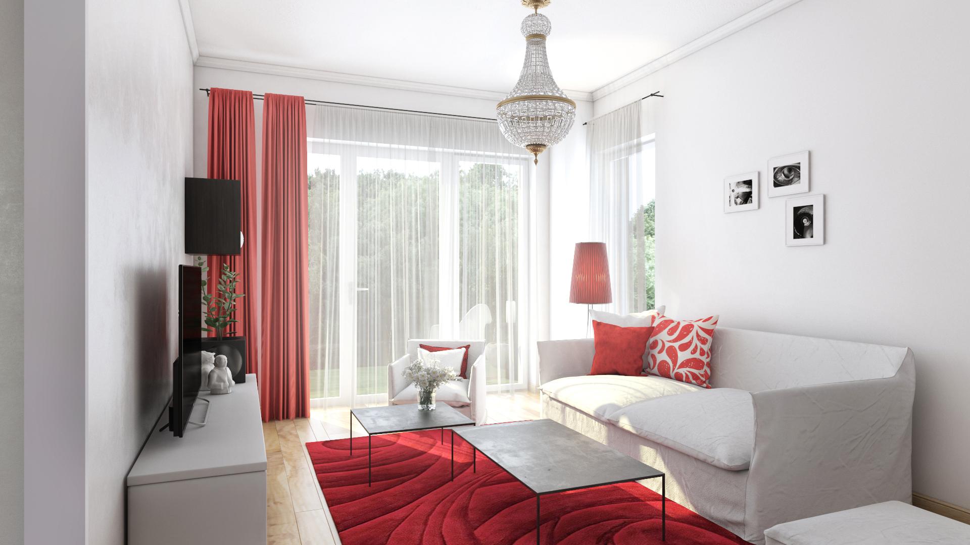 Apartament 2,5 camere tip C1-B - living