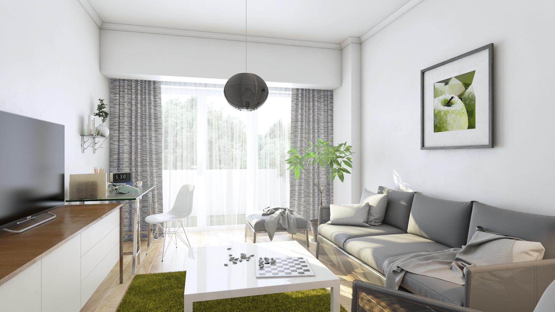 Apartament 3 camere tip C1-A - living
