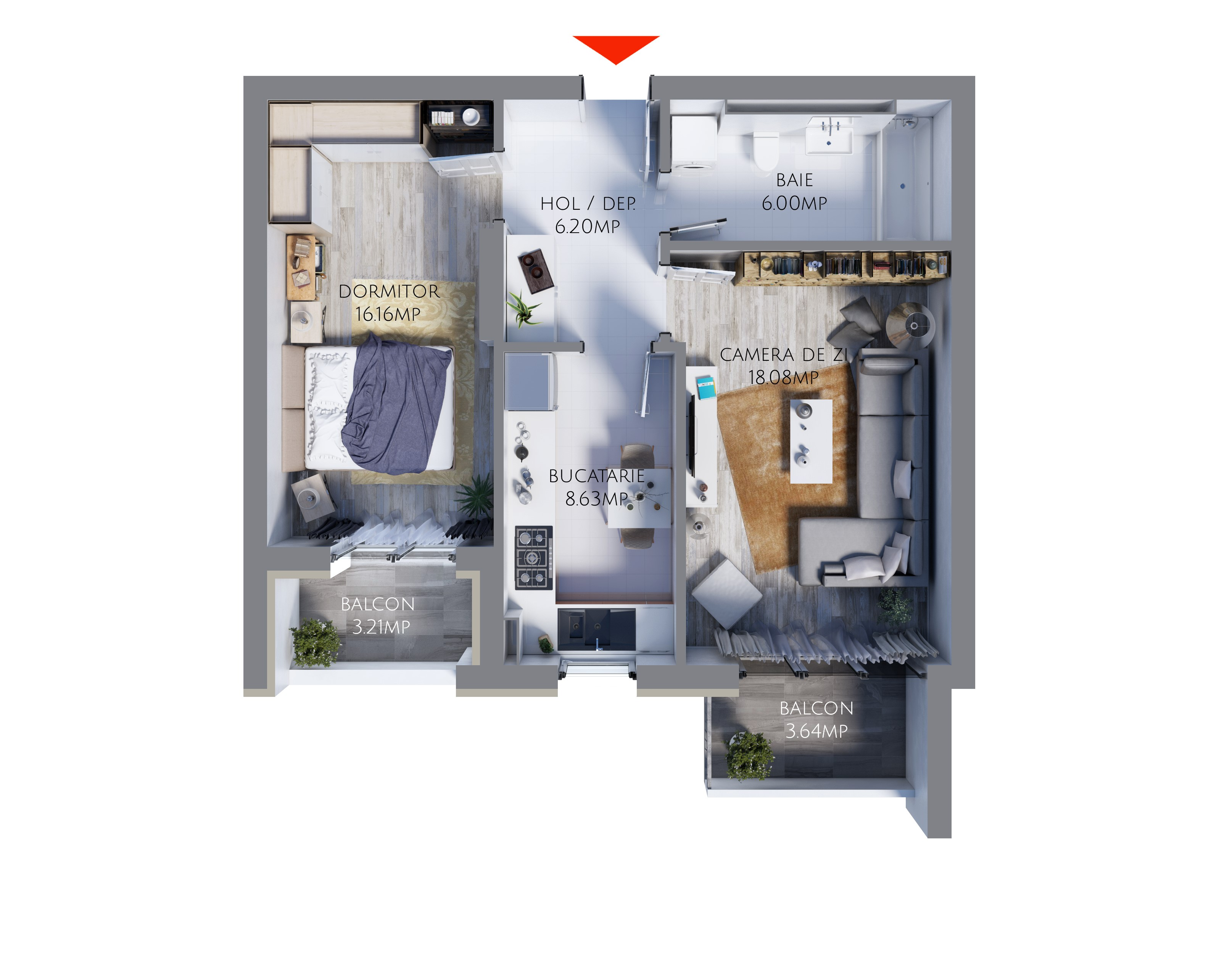 Apartament 2 camere MR55