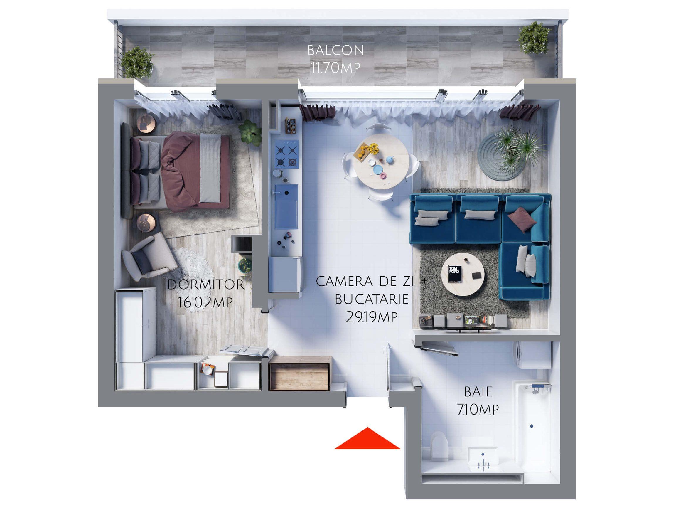 Apartament 2 camere MR52