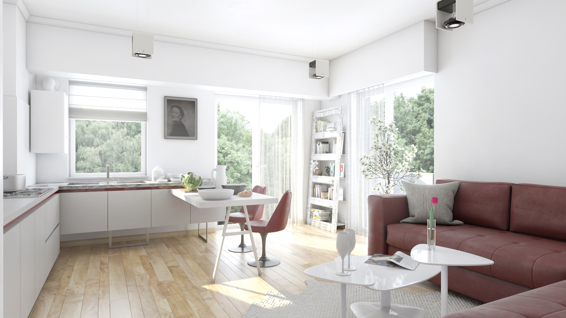 Apartament 3 camere tip C1-B - Living