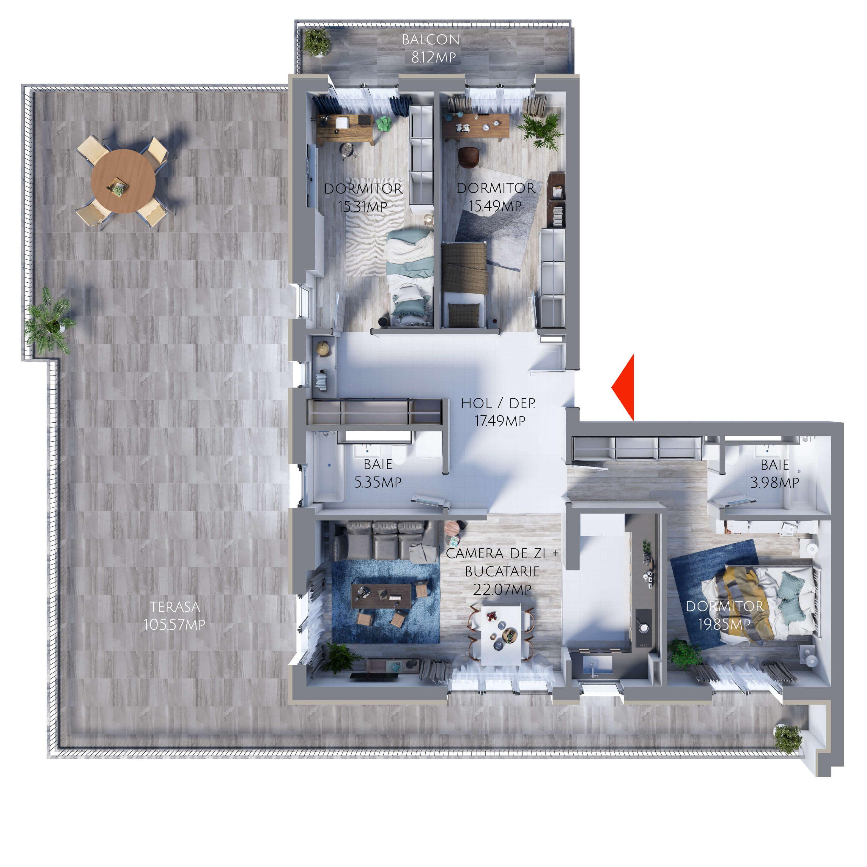Apartament 4 camere MR107